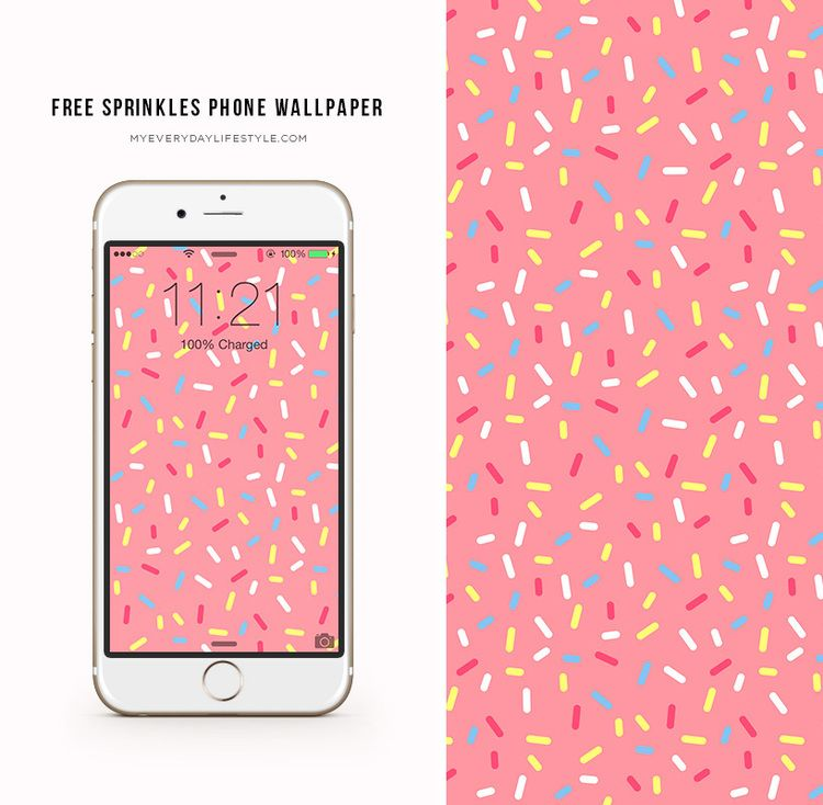 where is the find my iphone freebie friday sprinkles phone wallpaper mel dallas 7232