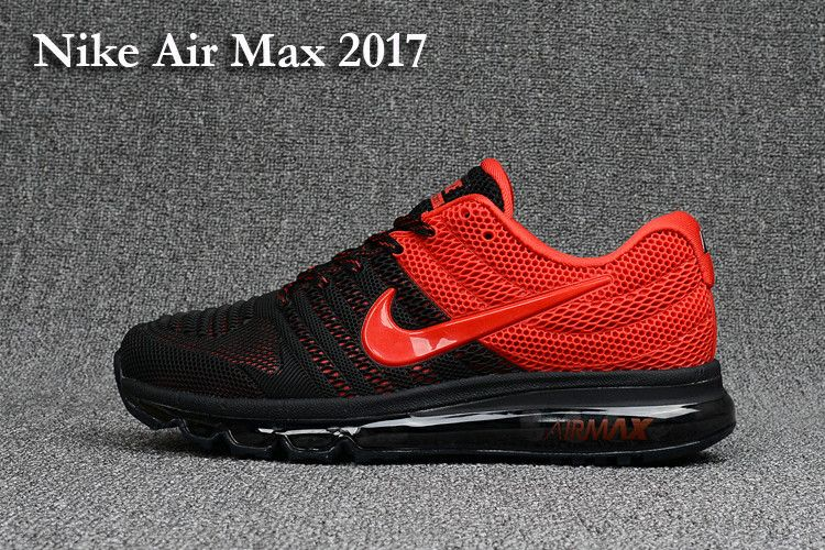 reputable site 135f6 233c6 Nike Men s Air Max 2017 KPU Running Shoes Black Red - Click Image to Close