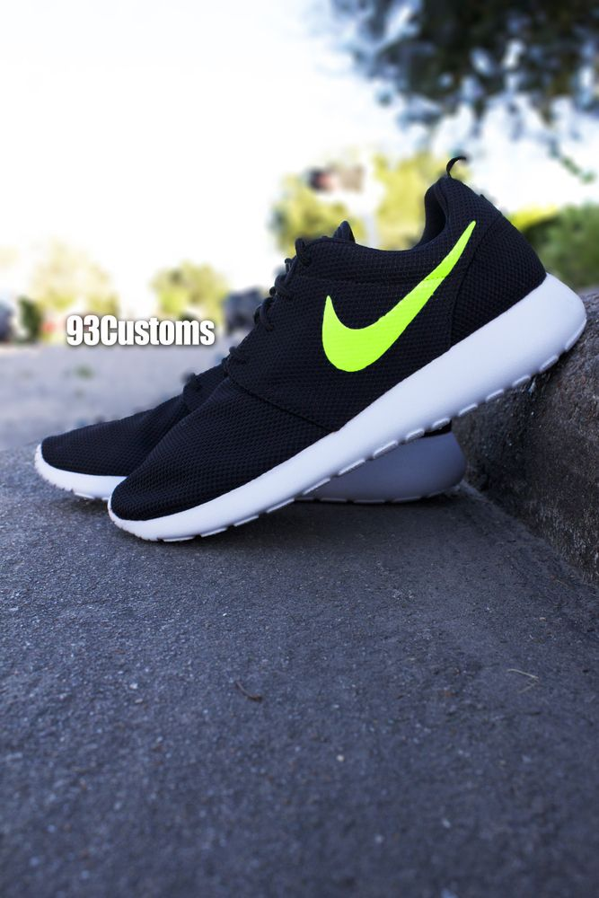 nike roshe lime green
