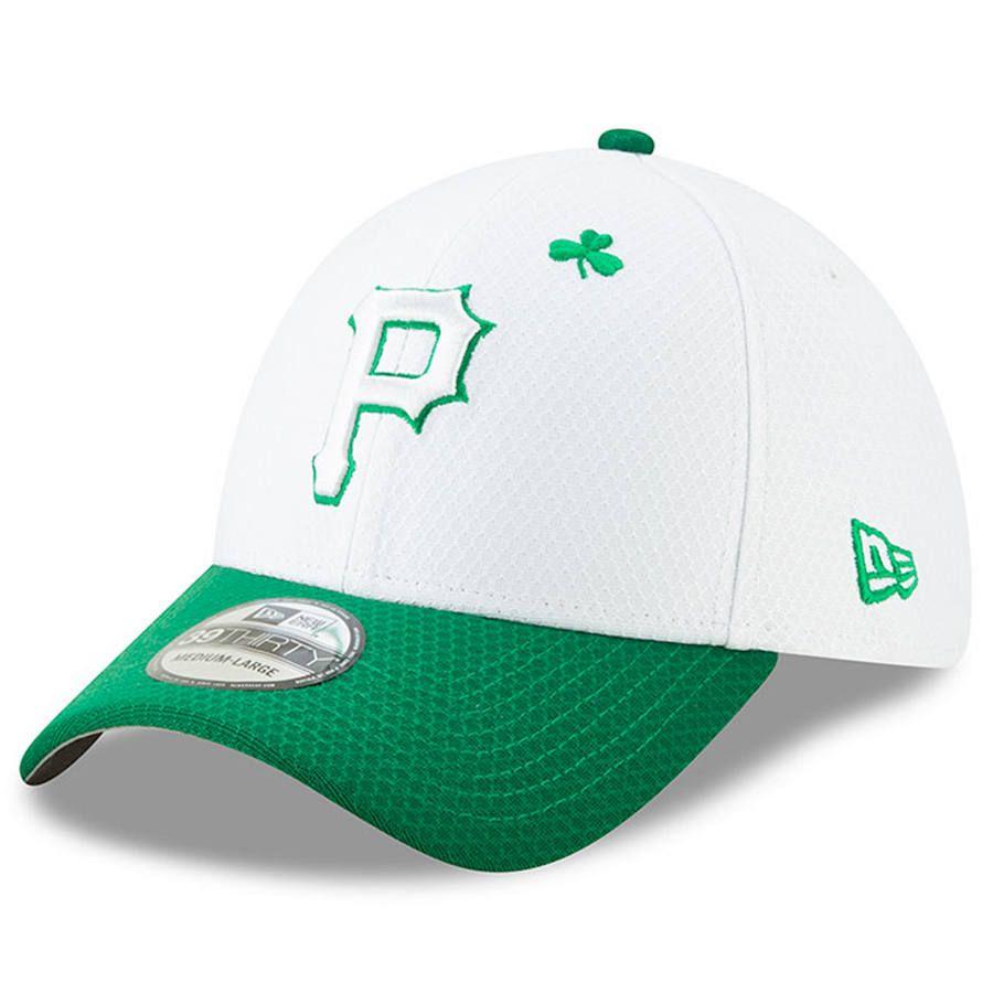 new concept 56c90 6d975 Men s Pittsburgh Pirates New Era White Kelly Green 2019 St. Patrick s Day  39THIRTY Flex Hat,  35.99