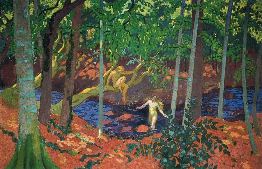 Un cuadro, antes de ser un caballo de batalla, una mujer desnuda o cualquier anécdota, es esencialmente una superficie plana recubierta de colores mezclados en un cierto orden.Maurice Denis.