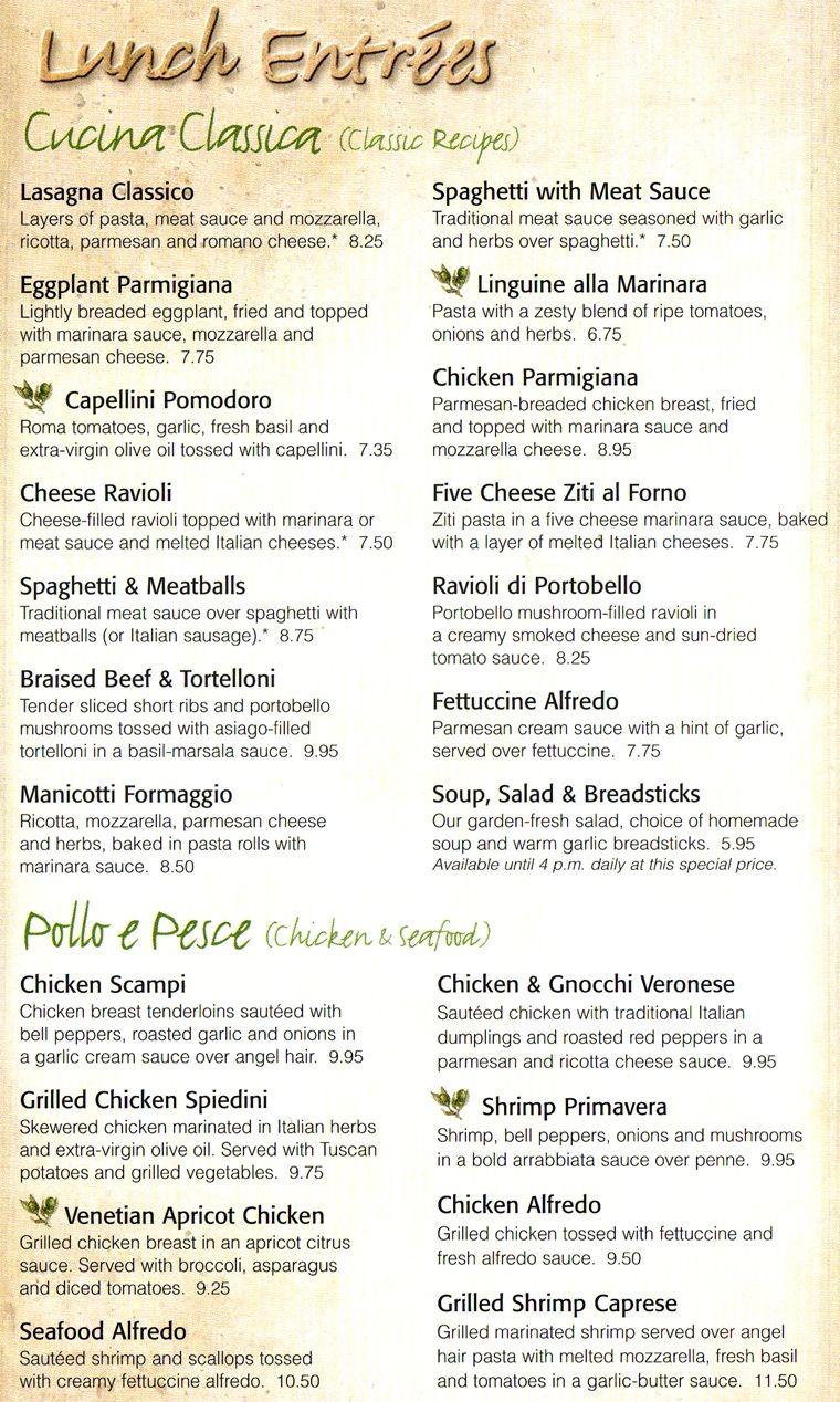 30 lovely olive garden kids menu - Olive Garden Kids Menu
