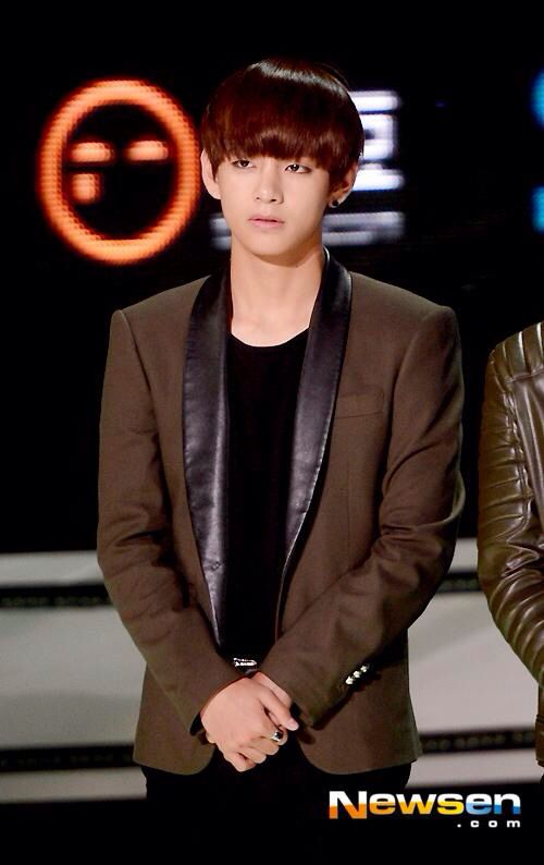 V from Bts. He is too pretty for his own good-.-....