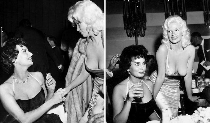 Chi è Jayne Mansfield, la donna nella foto con Sophia Loren