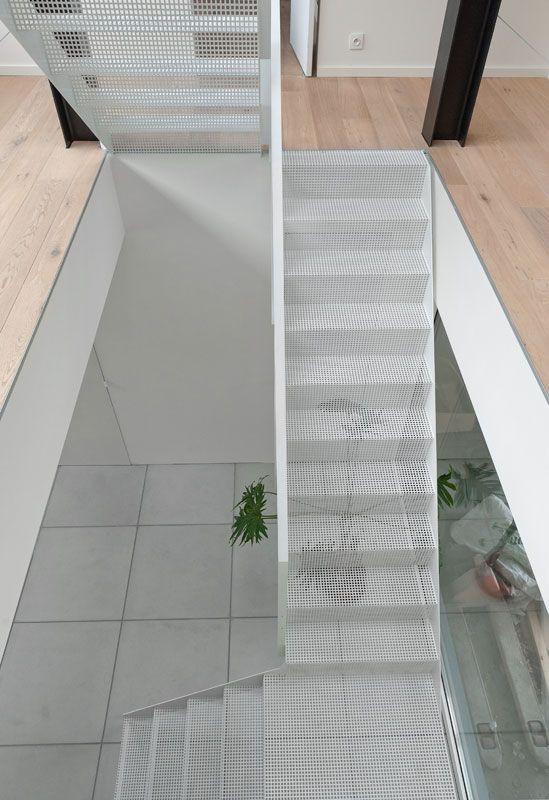 Escalier M Tallique Acier Perfor Blanc Architecture Stairs Pinterest Escalier
