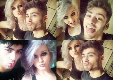 Zerrie selfies. Too cute :) not sure if I should pin to little mix or 1d board so to both they go
