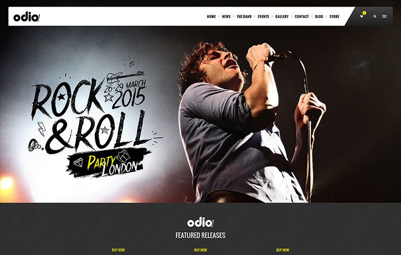 Odio - Music WP Theme For Bands, Clubs, and Musicians Nomiated on ...