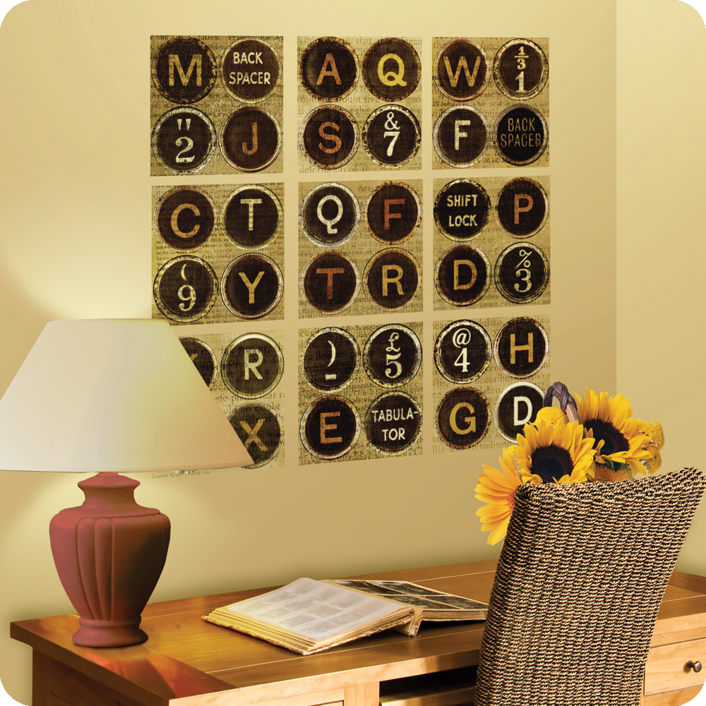 Update and add life to any wall with these vintage Typewriter Keys ...