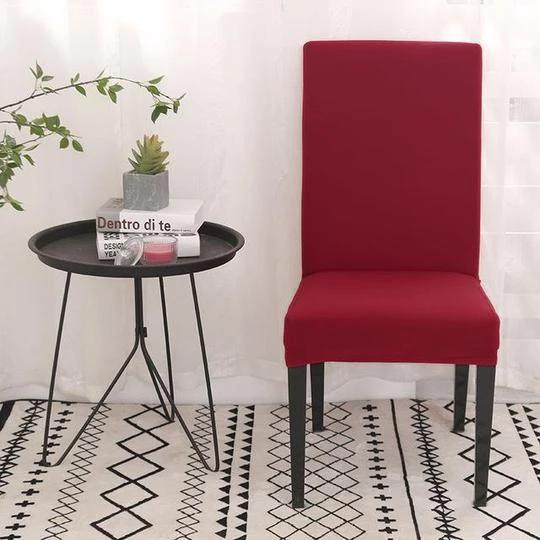 Housse De Chaise Extensible Et Elastique Rouge Housse De