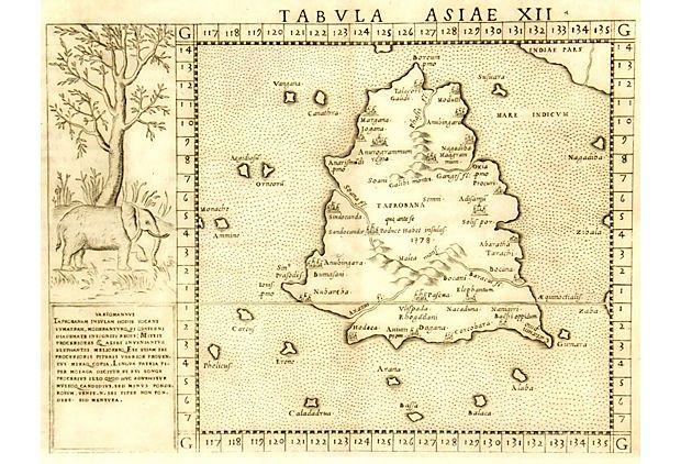 Sri Lanka, 1562 on OneKingsLane Copper engraving of what is - what is presumed