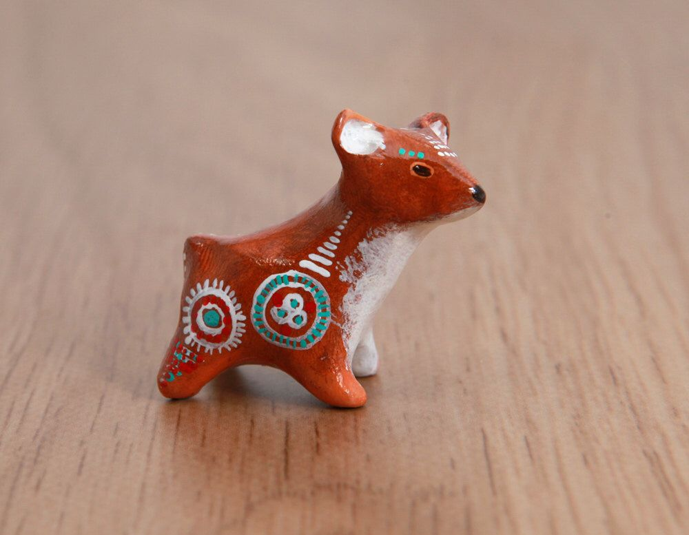 Cute Little Fawn Animal Totem   Deer Polymer Clay Animal OOAK Figurine By  LifedanceCreations On Etsy