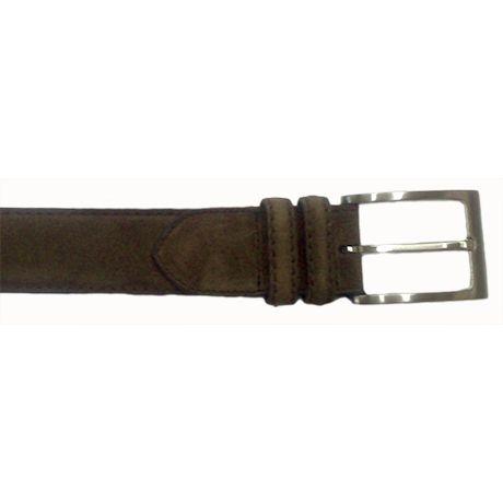 8bf323b25 Cinturón en ante marrón de Yanko   Cinturones de hombre   Zapatos ...