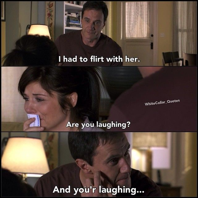 Peters flirting doesn't worry Elizabeth ) White collar