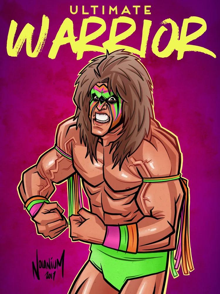 Warrior Nolanium Ultimate Warrior Wwe Legends Wrestling Posters