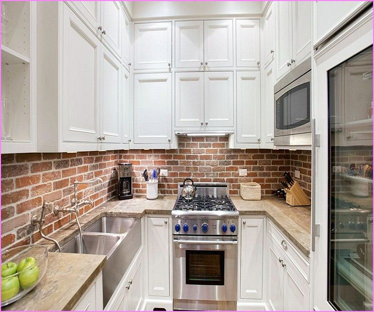 Red Brick Kitchen Backsplash Jpg 746 623 Kitchen Remodel