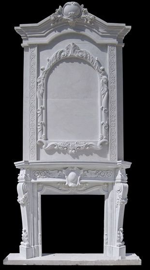 Over mantle Fireplace Mantelpiece surround Cheminée hearth nature solid marble