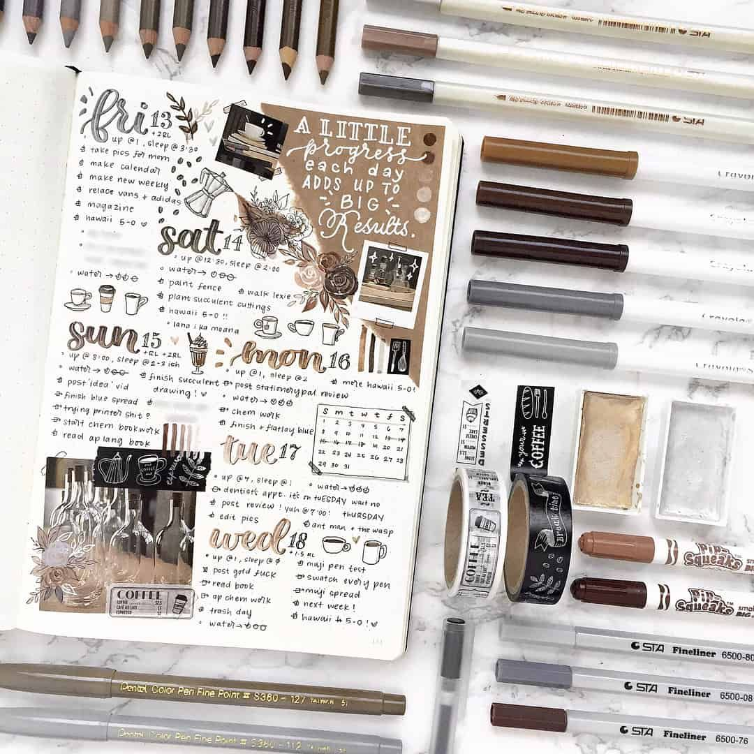 Photo of 27 Thirst-Quenching Coffee bullet journal layout spread ideas | My Inner Creative