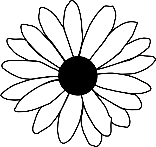 Flower Line Drawing Icon : Daisy flower clipart kid stencils appliqué