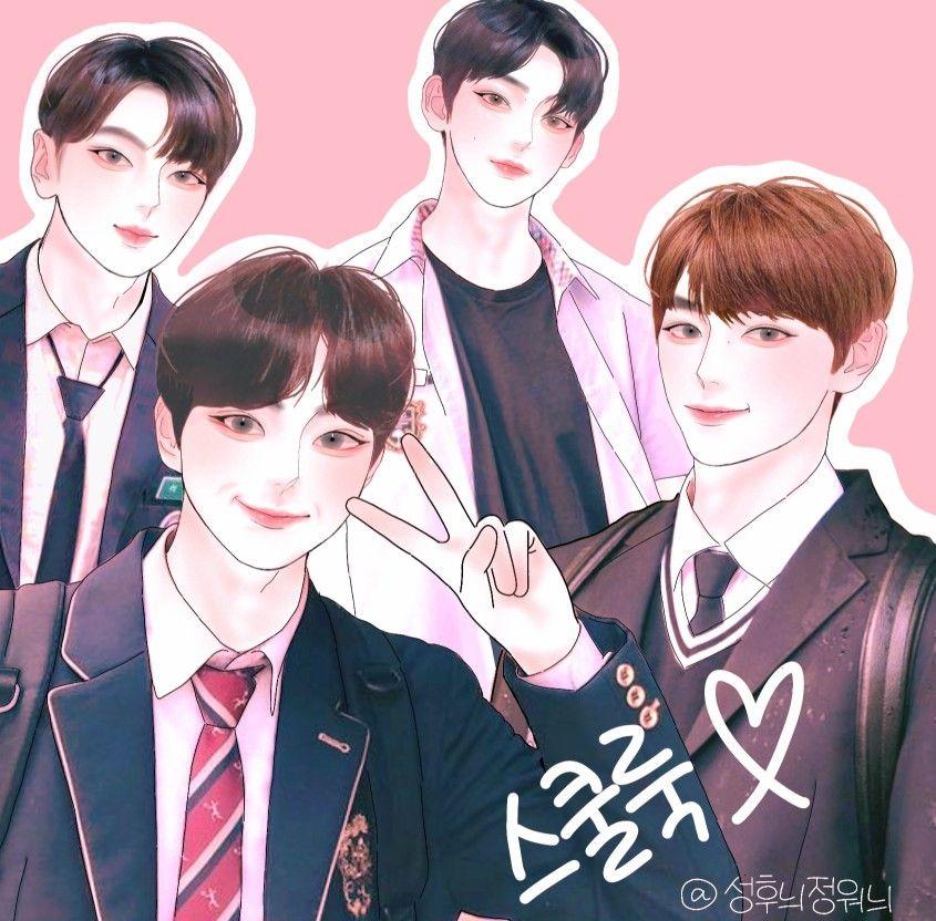 Jay Jungwon Sunoo Sunghoon Ilandfanart Yan G Arden Ilustrasi Karakter Seni Anime Ilustrasi Cartoon wallpaper sung hoon enhypen