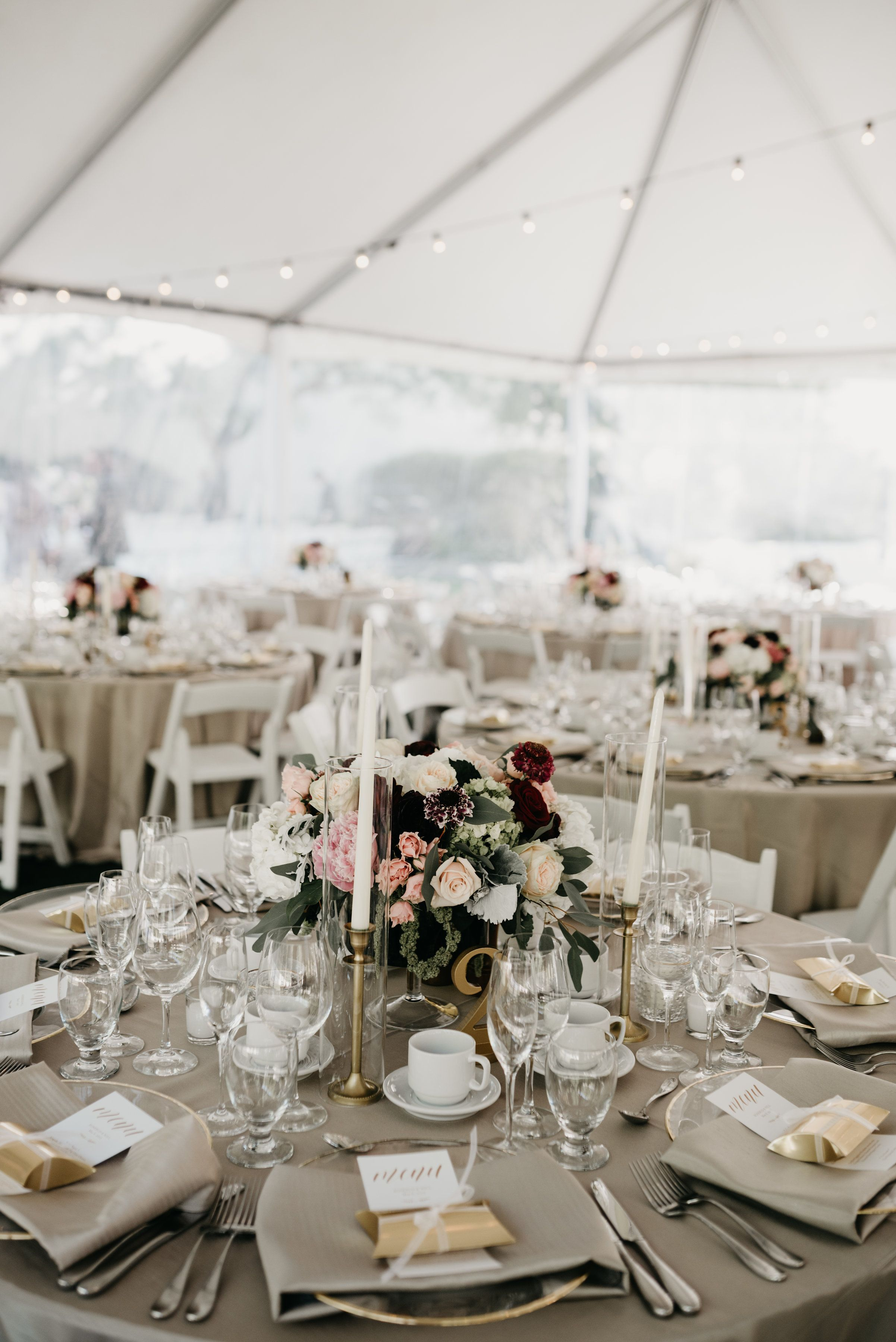 Lush floral arrangement with pinks, blush, champagne, ivory with ...