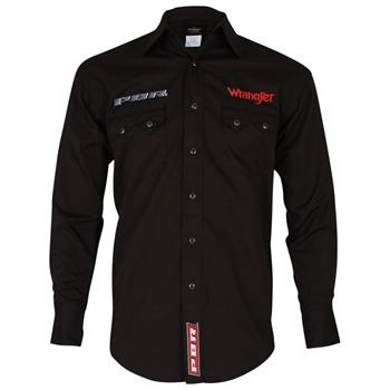 Wrangler Men s Embrodered PBR Long Sleeve Western Shirt  4d13c5efc02