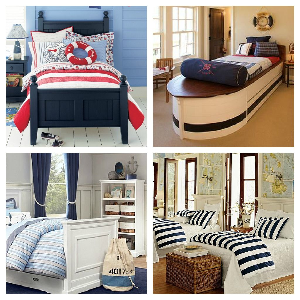 Pe Nautical Bedrooms For Boys Rope On Navy Curtains