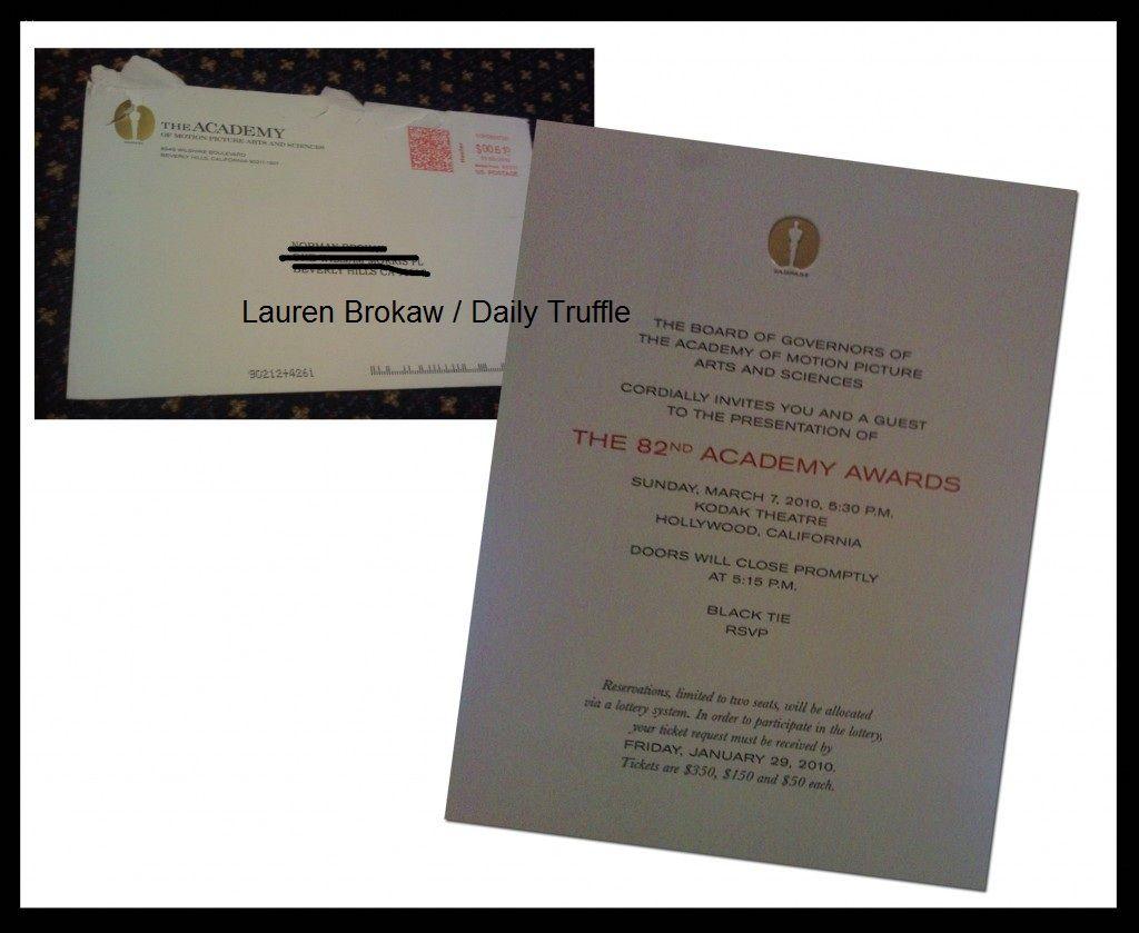 Wanna see an AcademyAwardsinvite Truffles Pinterest Staff