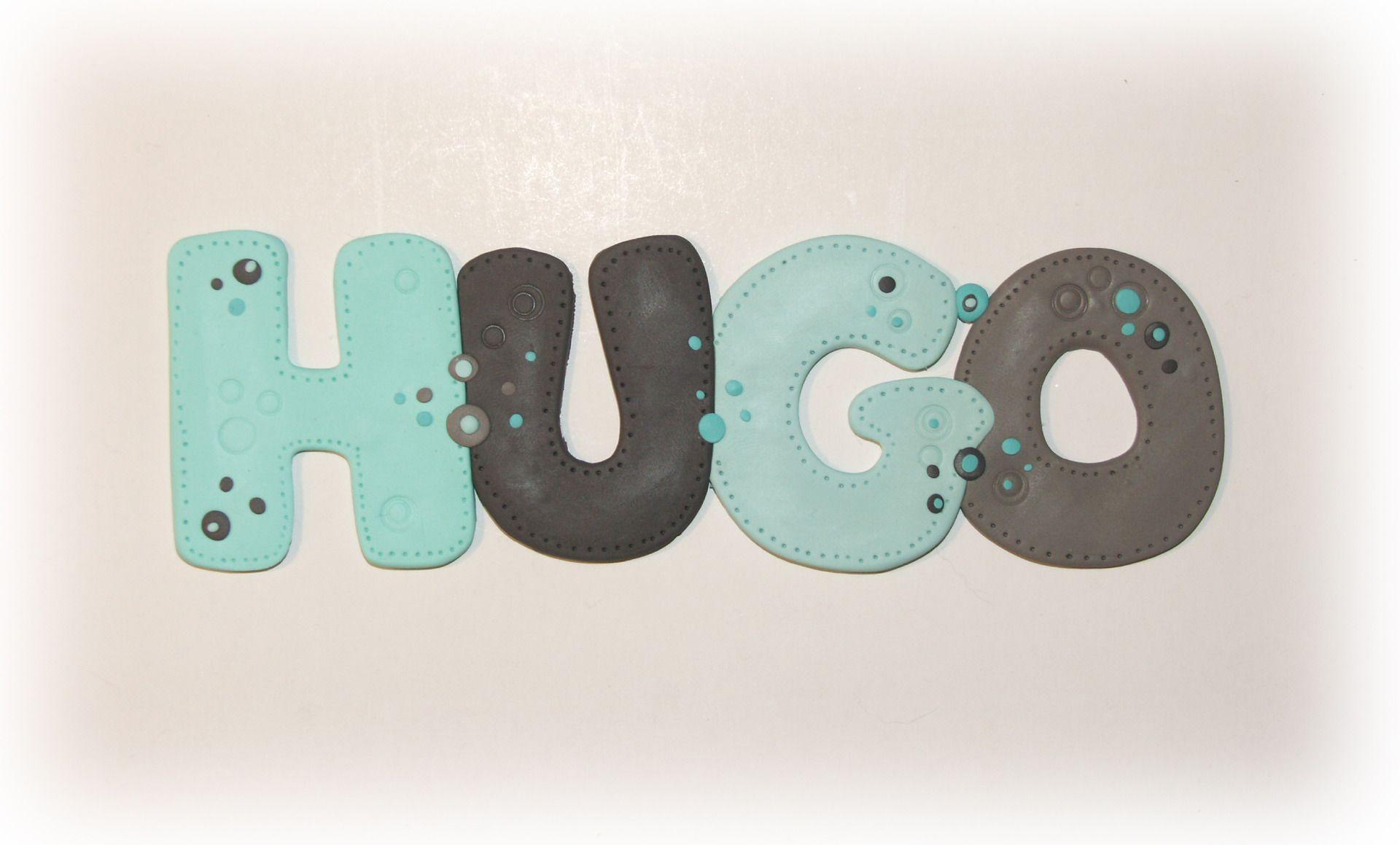 Pr nom plaque de porte hugo bleu et taupe en fimo autres - Porte prenom ...