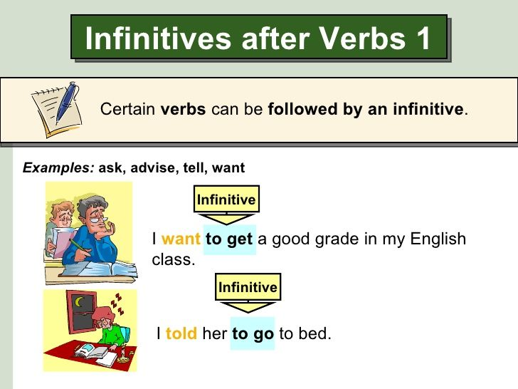 Resultado de imagen de infinitive verb | English | Pinterest | English