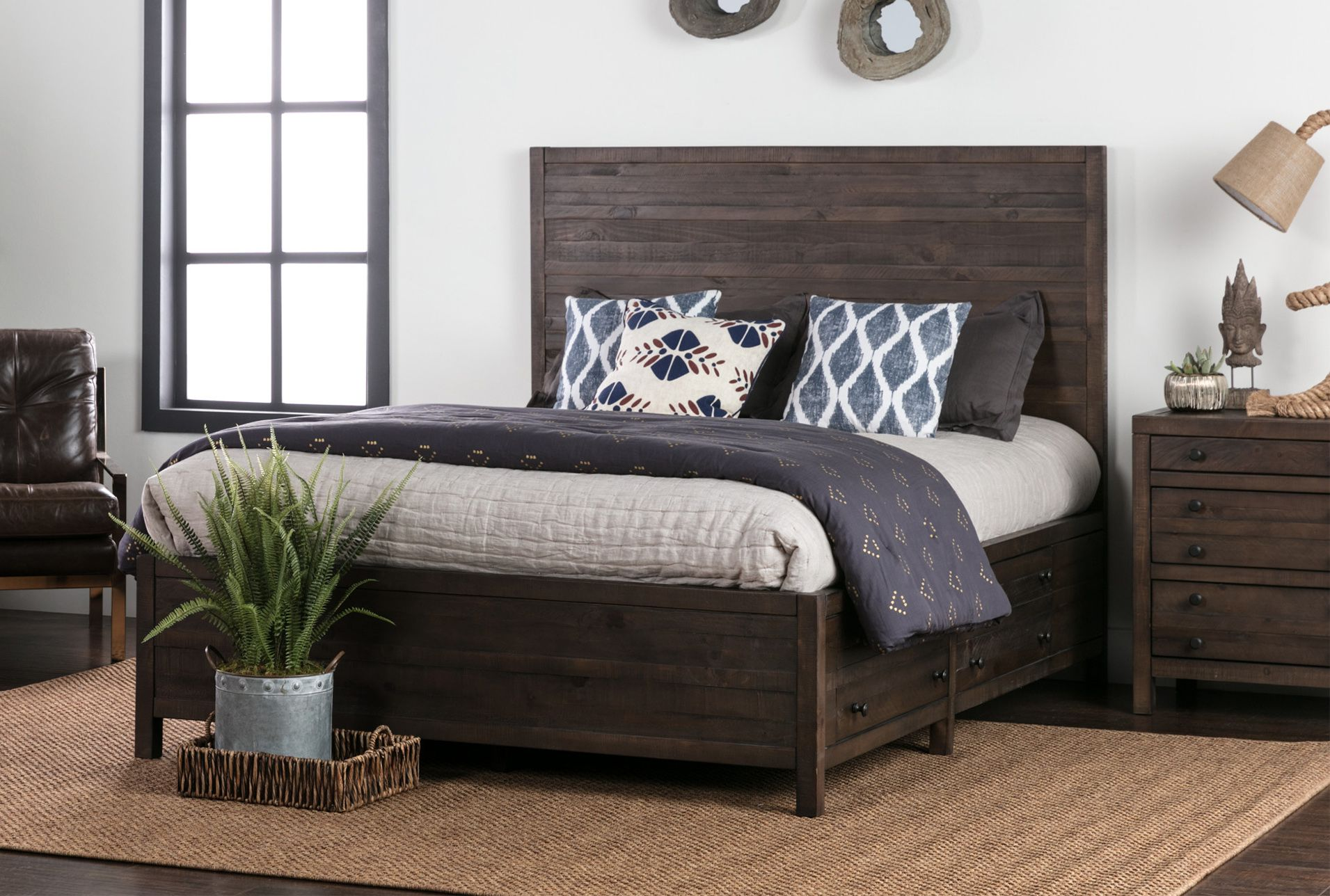 Rowan Queen Panel Bed W/Storage | Products in 2019 | Twin ...