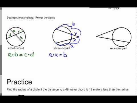 H-F Final Exam Review: Geometry Honors Chapter 10 Circles (1) wmv