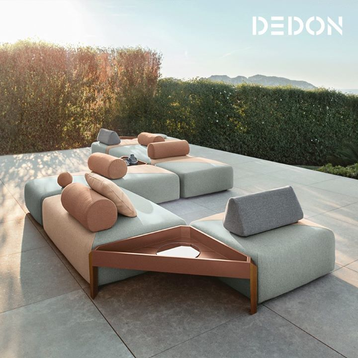 Dedon And The Winner Is Brixx Dedon S First Fully Upholstered Collection Contemporary Designers Furniture Pool Furniture Furniture Geometric Furniture