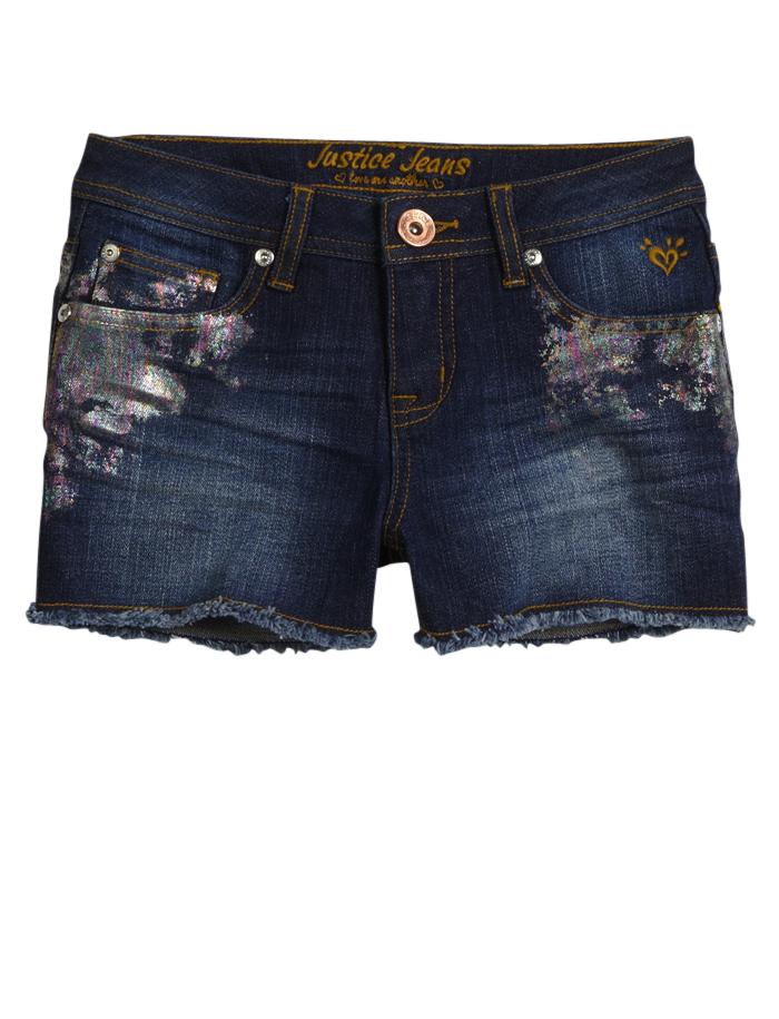Foil Denim Shorts   Shop Justice  Kids Clothes  Denim -2522
