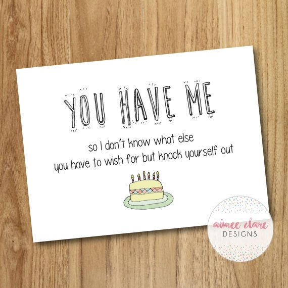 Funny boyfriend girlfriend birthday card by aimeeclaredesigns my funny birthday card for boyfriend or girlfriend size supplied with envelope and blank inside for your own message bookmarktalkfo Images