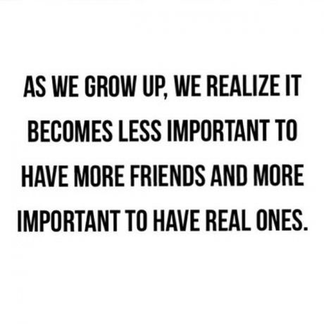 Real friends... You guys know...