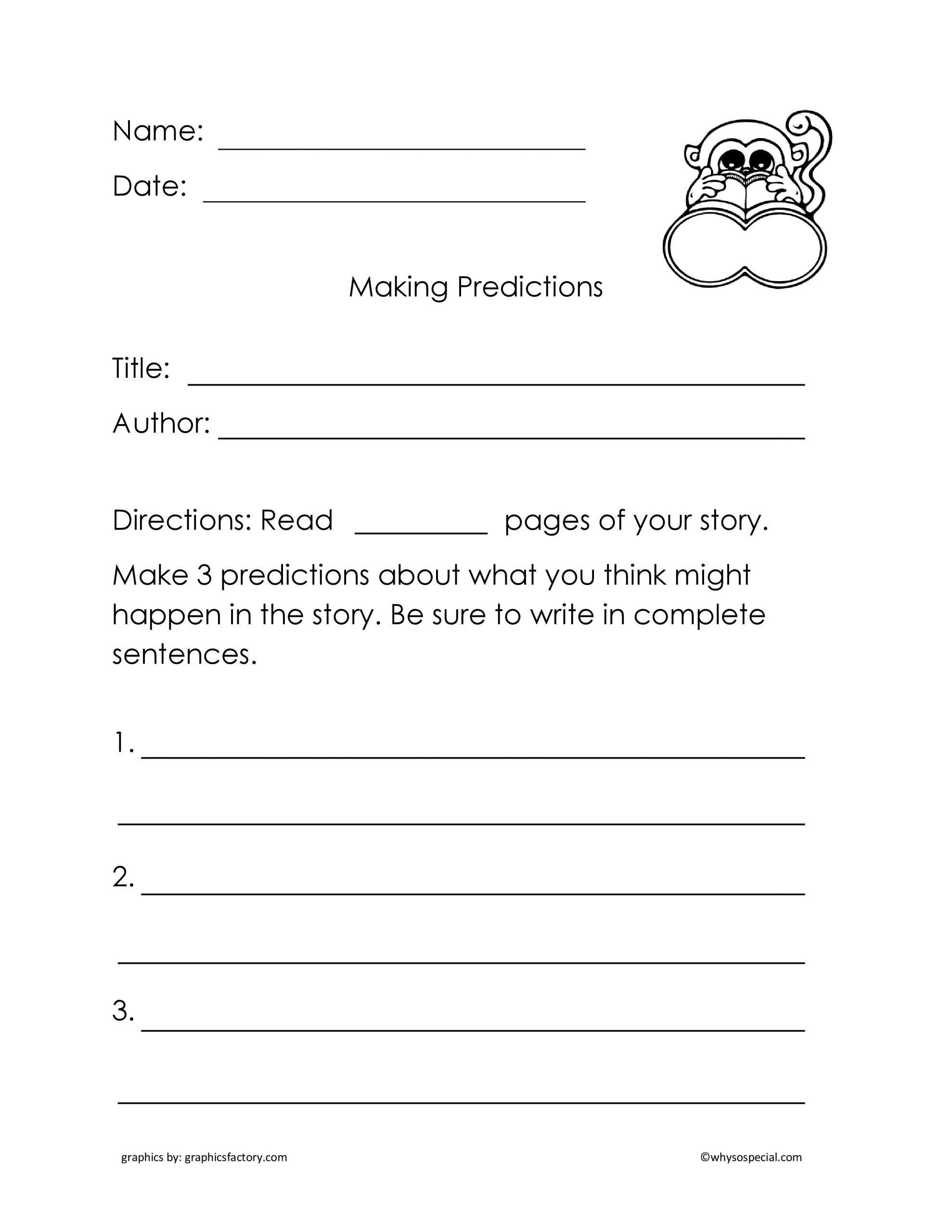 Making Predictions Worksheets 3rd Grade in 2020   Kindergarten worksheets [ 2560 x 1978 Pixel ]
