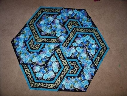 My Triangle Frenzy's made with 60 degree ruler - this looks like a ... : 60 degree ruler quilting - Adamdwight.com