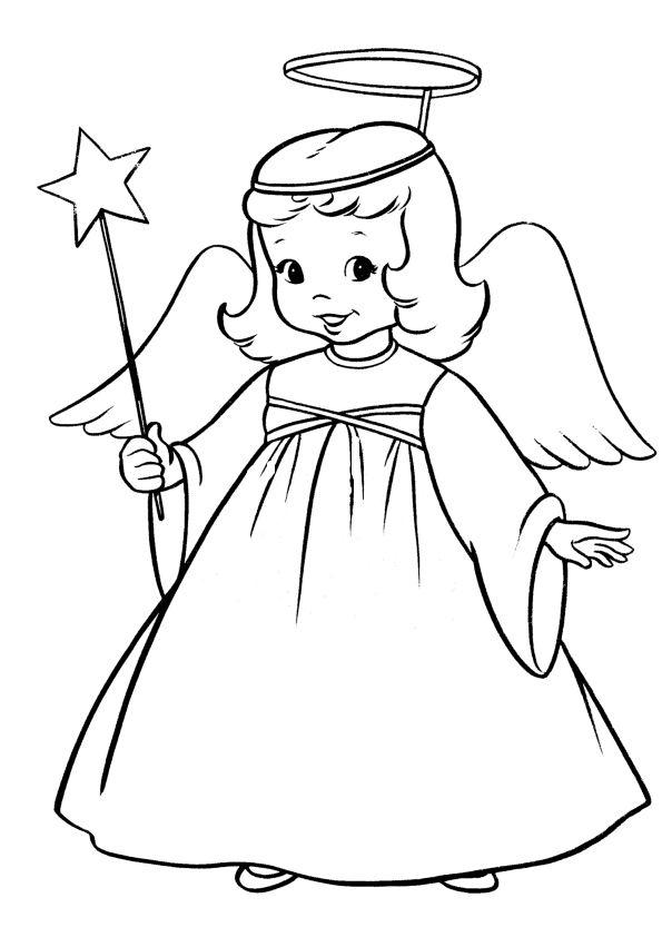 angel navidad para colorear   Angel   Pinterest   Angel