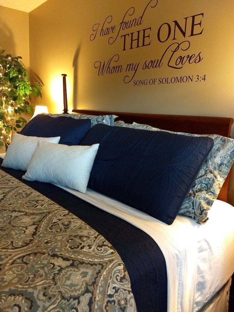 Master Bedroom Pottery Barn Mckenna Paisley Blue In