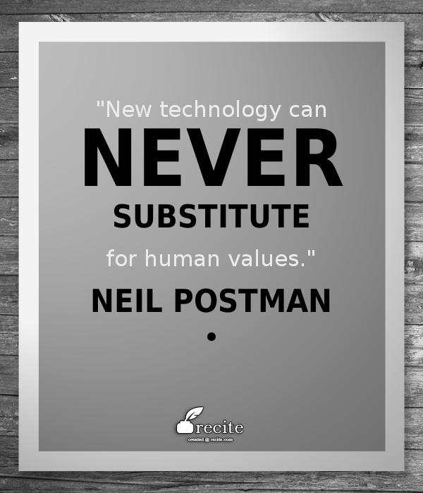 neil postman technology