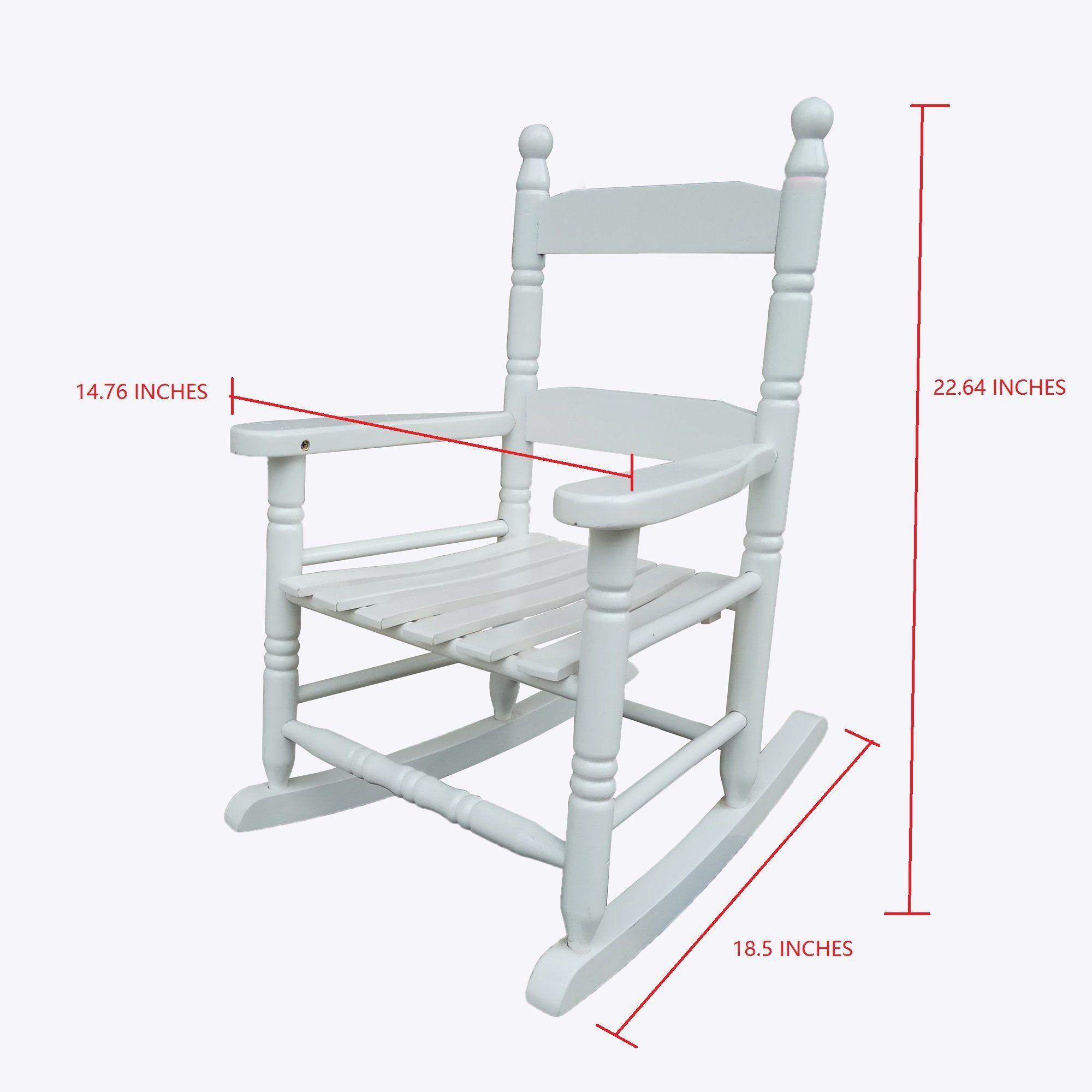 Rockingrocker K10WT White Child's Rocking Chair/porch