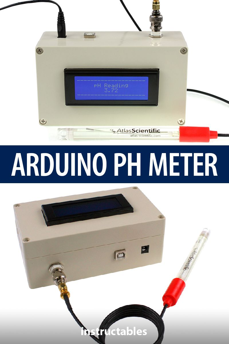 Make a bench top pH meter using the gravity analog pH circuit and probe…