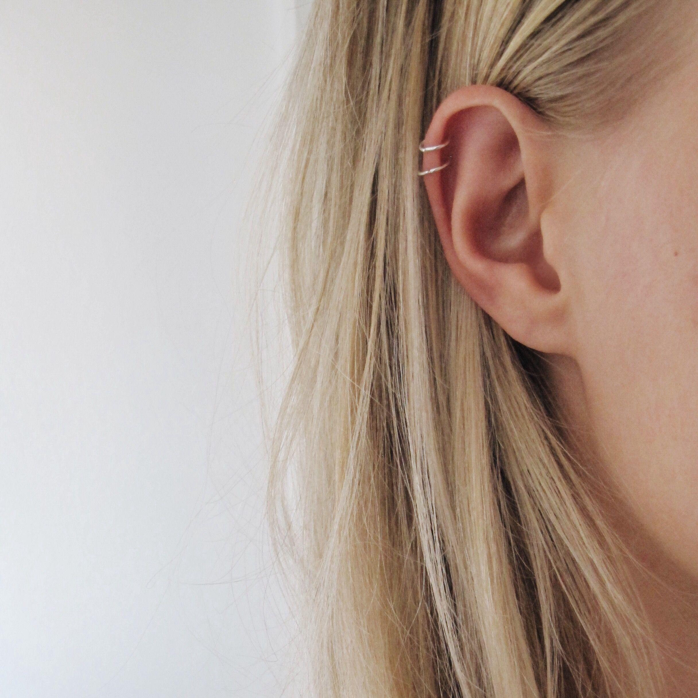 Very Small Sterling Silver Cartilage Hoops Piercings Cute
