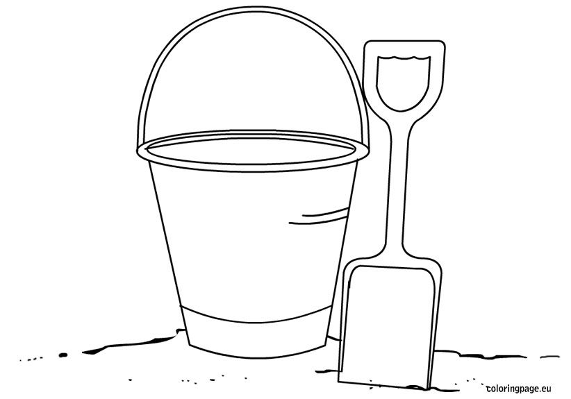 Bucket And Shovel Coloring Page Printables Pinterest Coloring