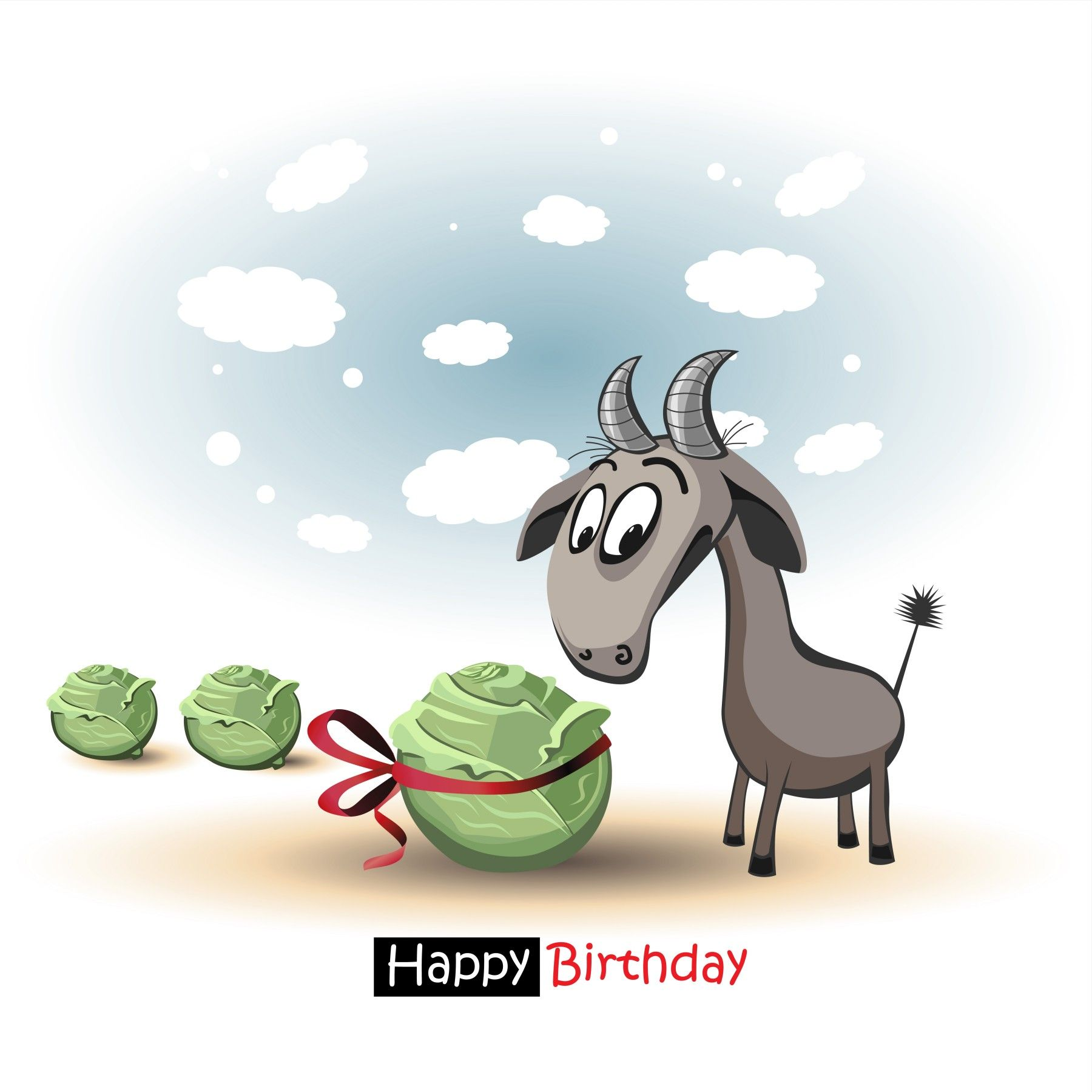 Happy birthday smile goat and cabbage goat pinterest happy happy birthday smile goat and cabbage bookmarktalkfo Image collections
