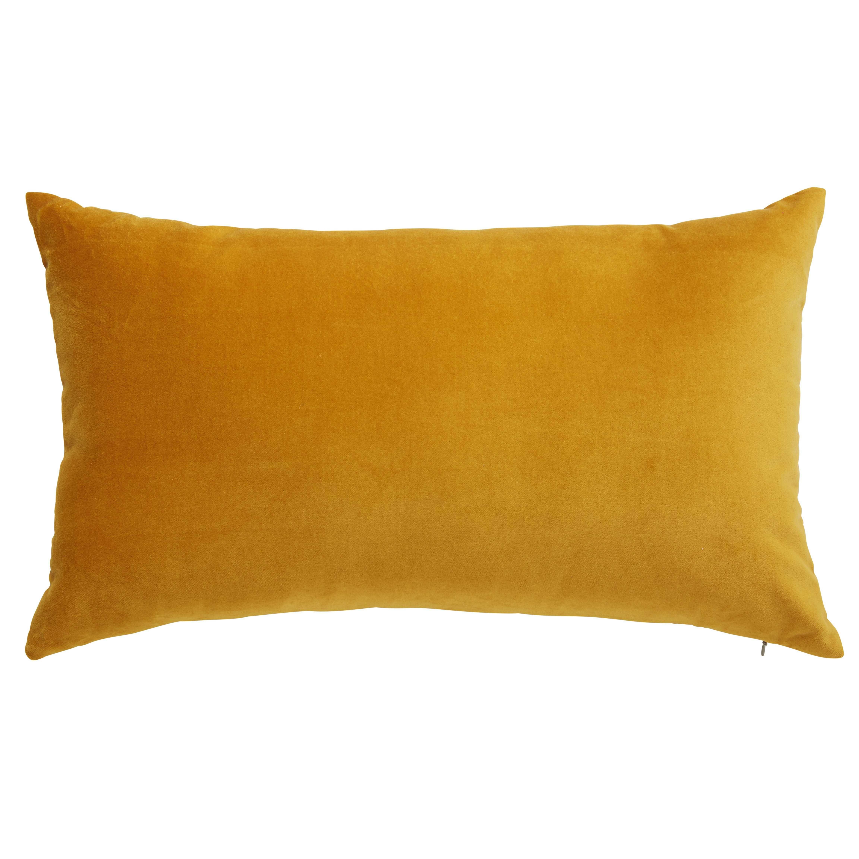 coussin en velours jaune moutarde 30x50cm daniel 39 s den. Black Bedroom Furniture Sets. Home Design Ideas
