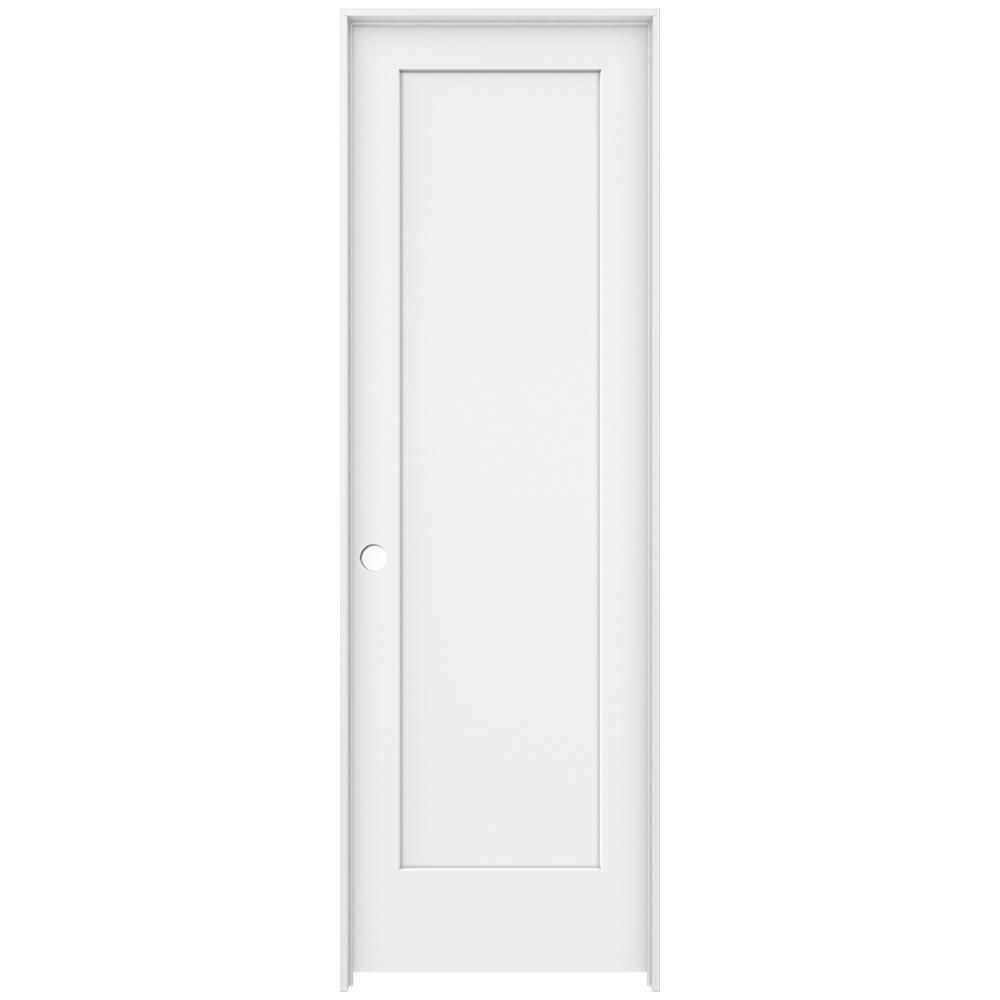 Jeld Wen 32 In X 96 In Madison White Painted Right Hand Smooth Solid Core Molded Composite Mdf Single Preh Prehung Interior Doors Doors Interior Primed Doors