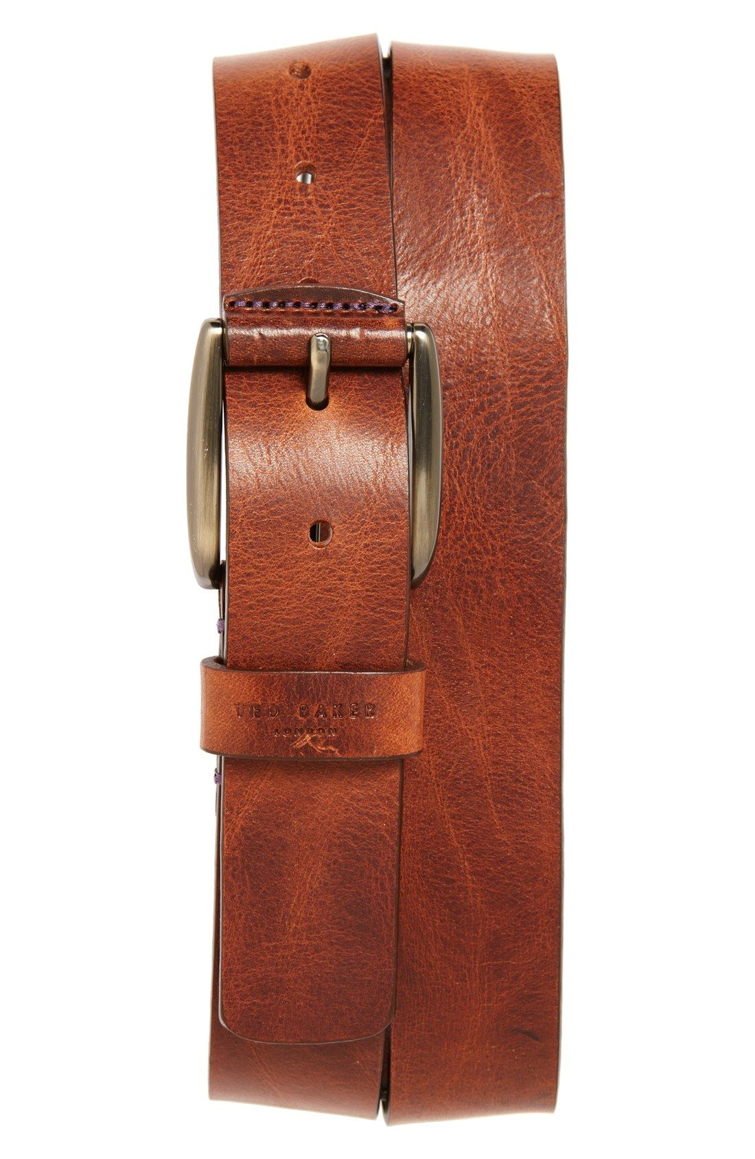 Ted Baker London Jean Leather Belt Men S Accessories Pinterest