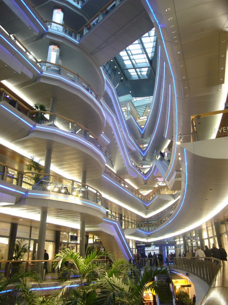 Inside the K galerie shopping mall Dusseldorf