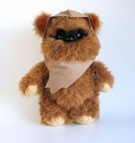 Vintage Ewok Wicket Teddy Bear Star Wars Return Of The Jedi Kenner 1980s Toy Stuffed Animal Plush Ewok Vintage Teddy Bears Teddy Bear